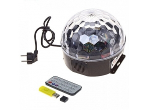 Лампа диско куля з пультом MP3 USB BT