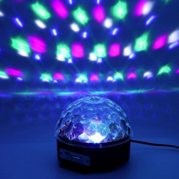 Лампа диско шар с пультом MP3 USB BT