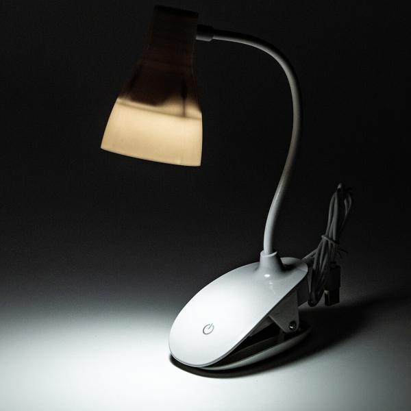 Лампа настольная LED на прищепке 6522 с