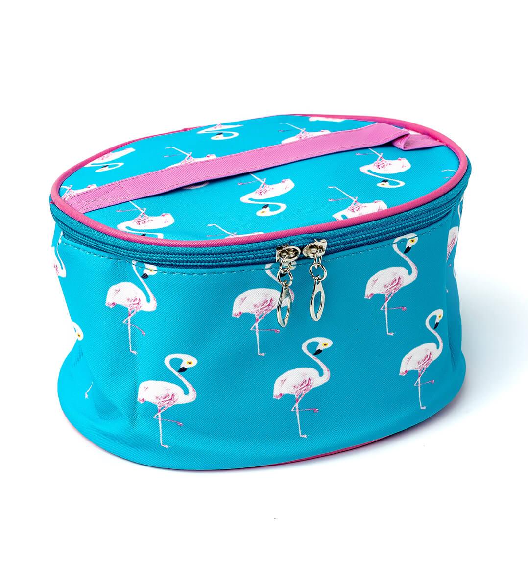 Косметичка овальная Фламинго с