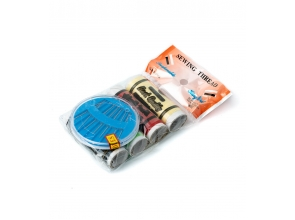 Нитки швейні різнокольорові 4шт з набором голок с