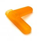 Чехол для зубной щетки пластмассовый цветной 20х3см (1281) с