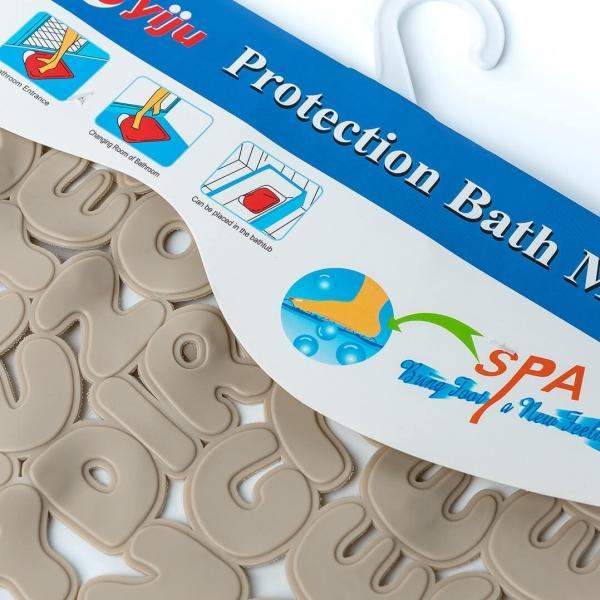 Коврик для ванны силикон алфавит с