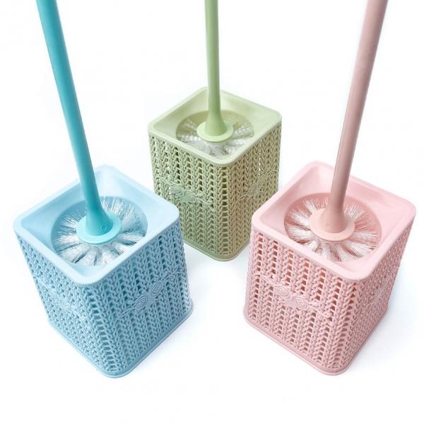 Щетка для унитаза плетение квадрат 958 с