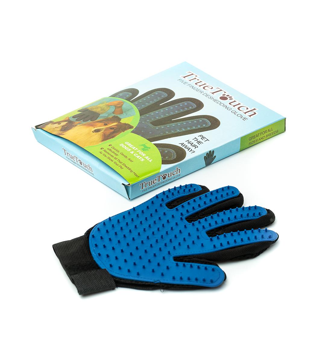 Перчатка для вычесывания шерсти домашних животных ТТ22 с