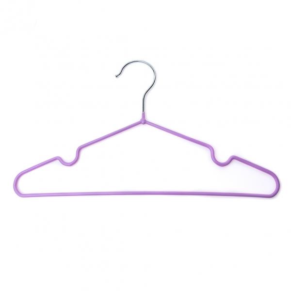 Плечики для одежды детские с силиконовым покрытием 1шт (0129) с