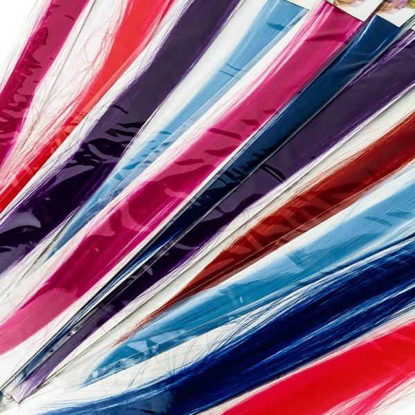 Косичка-тресс искусственная цветная с