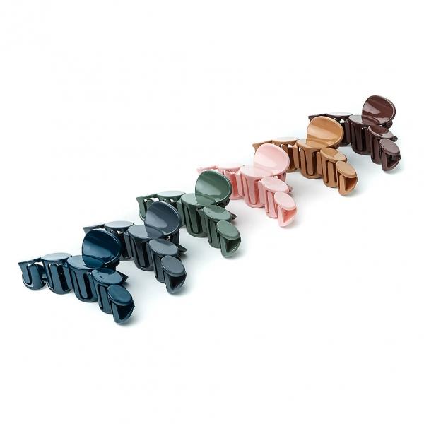 Крабик для волос пластиковый цветной 6102