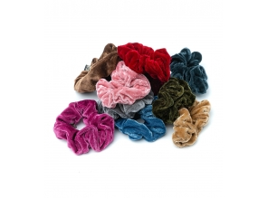 Резинка для волосся махрова кольорова с