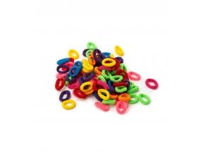 Резинки для волосся кольорові набір 90шт с