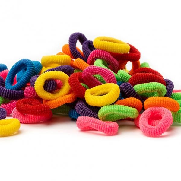 Резинки для волос цветные набор 90шт с