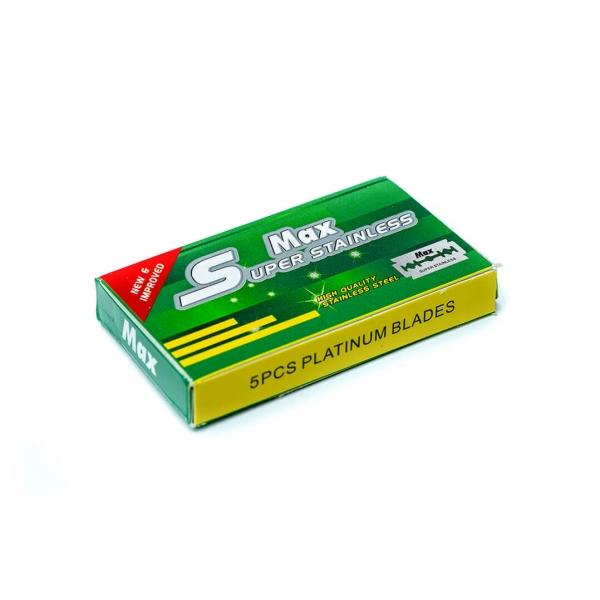 Лезвия для безопасной бритвы Super-Maх 5шт с