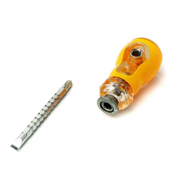 Отвертка двухсторонняя Screwdriver пластиковая ручка с
