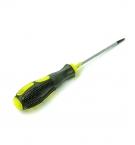 Отвертка с резиновой ручкой 7см 3068-4 с