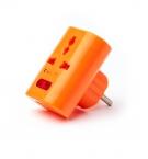 Тройник пластиковый оранжевый с