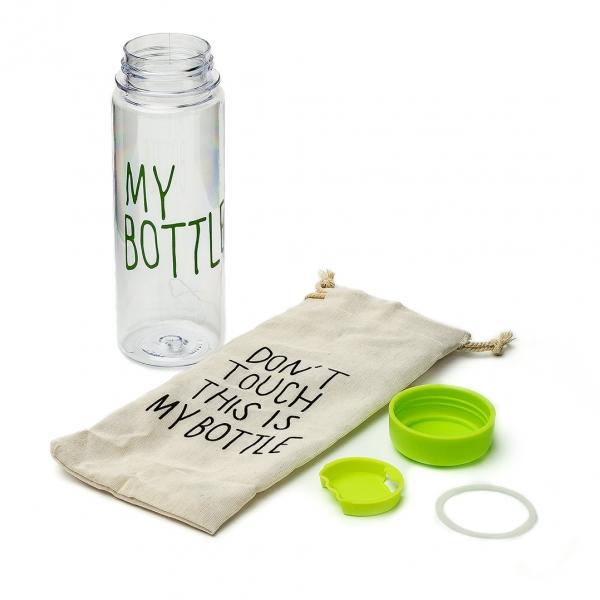 Бутылка для воды My Bottle пластиковая в чехле с завязками с