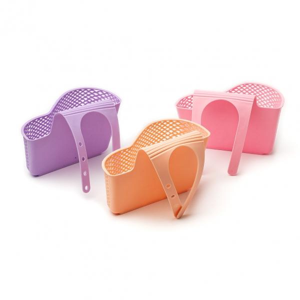 Держатель для губки на кран пластиковый широкий с