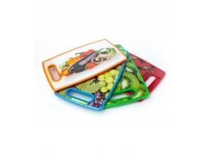 Доска для нарезки пластик 30х20см фрукты 9026 с