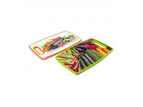 Доска для нарезки пластик 36х22см фрукты 1636 с