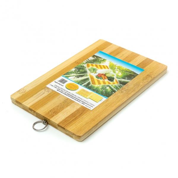 Доска кухонная бамбуковая 18х28см с