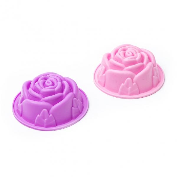 Форма для кекса силикон 1шт роза с