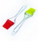 Кисточка кухонная силиконовая с прозрачной ручкой большая с