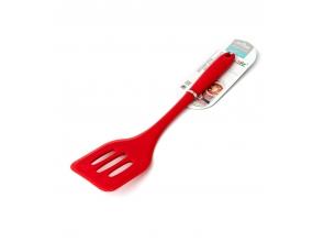 Лопатка кухонна силіконова з прорізями Kitchen 29см с