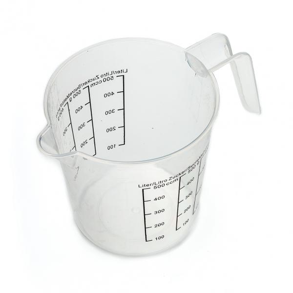Мерный стакан пластиковый 500мл матовый с