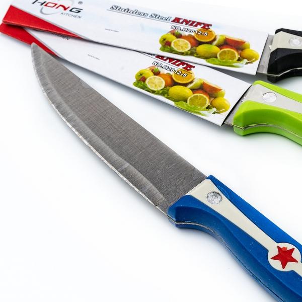 "Нож 5"" нержавейка с рисунком звезда  Knife Н2012-5 с"