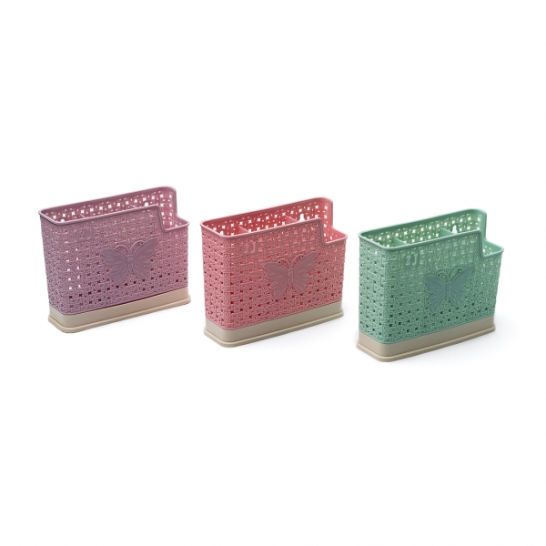 Сушилка для столовых приборов бабочка пластик 3отдела с