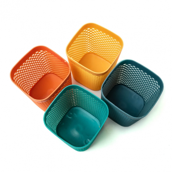 Сушилка для столовых приборов пластиковая Ажур 9х9х11см с