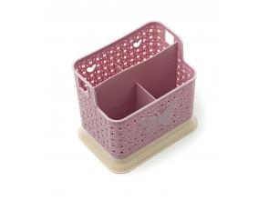Сушарка для столових приборів пластикова Метелик 4відділи с