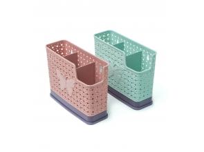 Сушарка для столових приборів пластикова Метелик 3відділи с