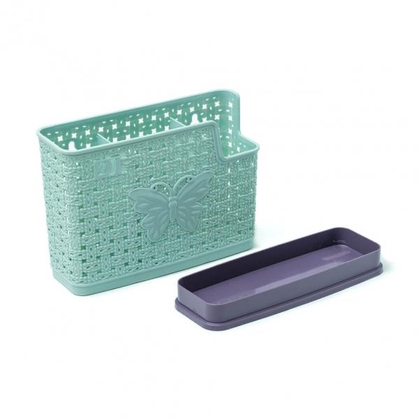 Сушилка для столовых приборов пластиковая Бабочки 3отдела с