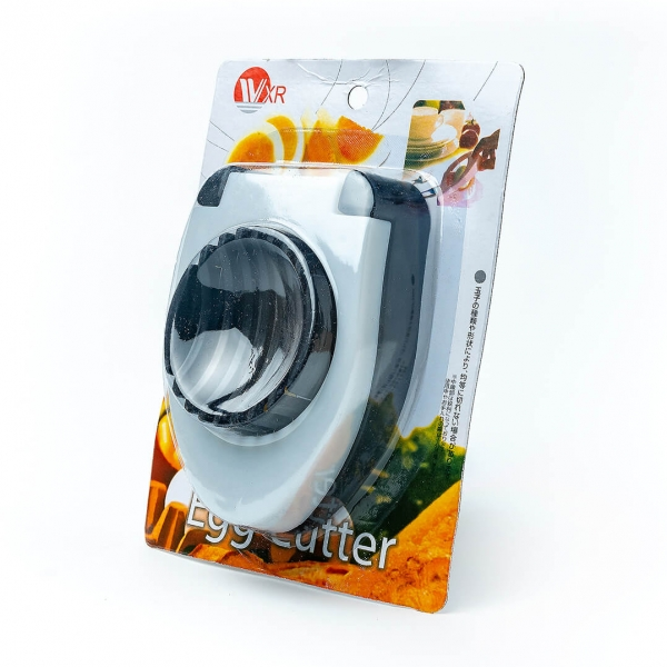 Яйцерезка пластиковая 8х11,5см на планшете с