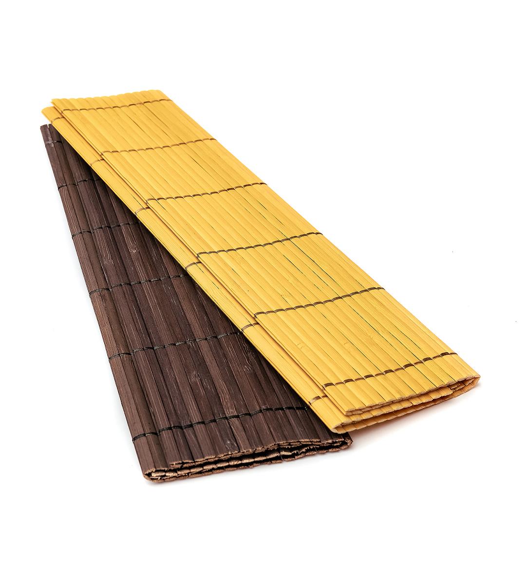 Коврик для сервировки бамбуковый цветной (2113) с