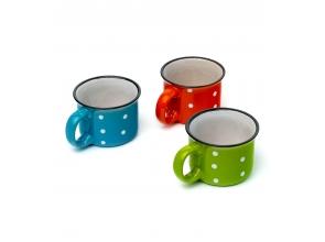 Чашка 250г-керамика горошек 30399 с