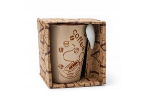 Чашка 300г+ложка в коробочке COFFEE 30076 с