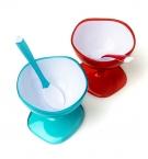 Креманка пластиковая с ложкой 10х10,5см (5798)с