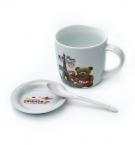 Набор детской посуды керамический Love 3предмета с