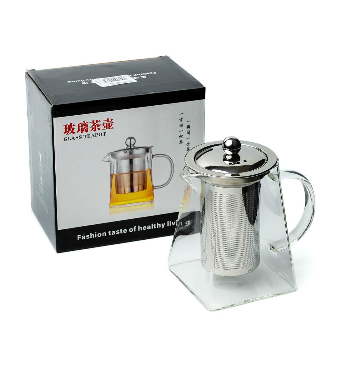 Заварник стекло 750мл Glass Teapot c