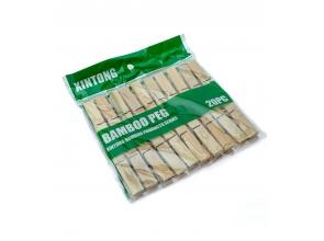 Прищепки бамбук 20шт в упаковке с