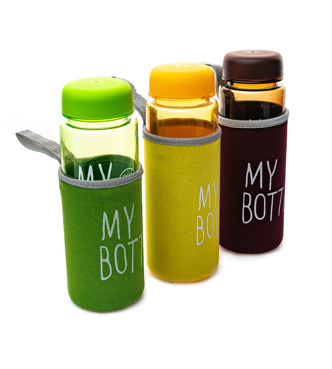 Бутылка для воды My Bottle пластиковая в чехле (8617) с