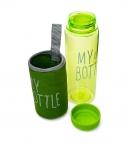 Пляшка для води My Bottle пластикова в чохлі (8617) с