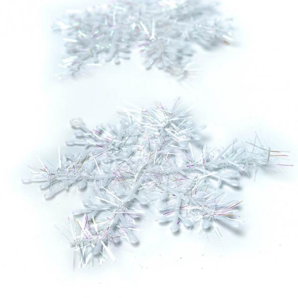 Подвес снежинка 3шт пластик 073 с