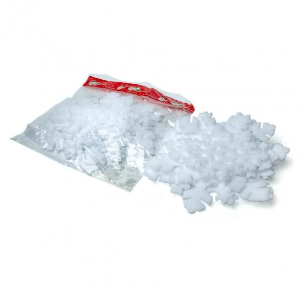 Подвес снежинка 6шт 23см пена в пак 075 с