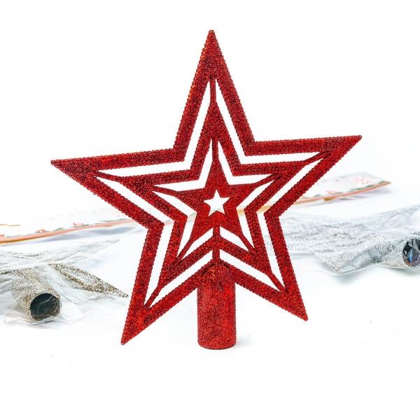 Звезда новогодняя 18см 081 с