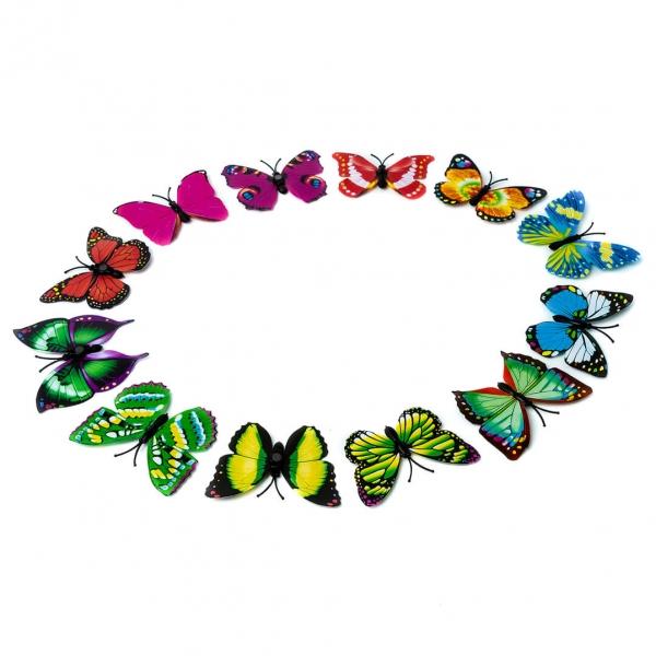 Бабочка на магните декор 12шт с