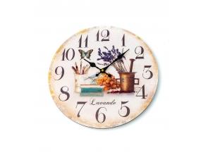 Годинник настінний d-30см Лаванда L00239 с