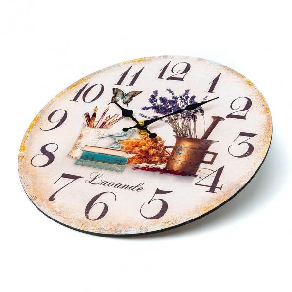 Часы настенные d-30см Лаванда L00239 с